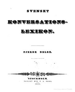 Svenskt konversations-lexicon, v.4, 1851_kapak