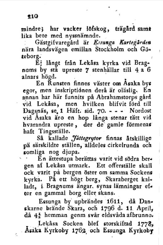 Försök till en korrt Beskrifning om Skara Stift, 2. cilt, s210