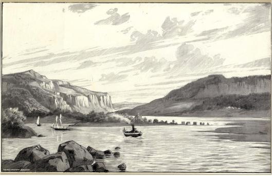Utsikt mot Halle- och Hunneberg från nordöst_Andrén, Victor, 1885