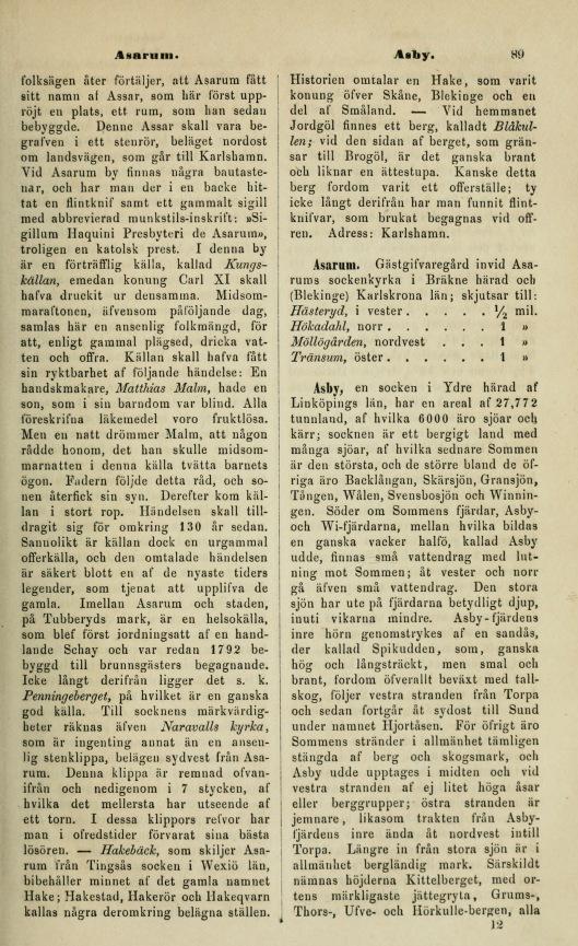 89 (Historiskt-geografiskt och statistiskt lexikon öfver Sverig