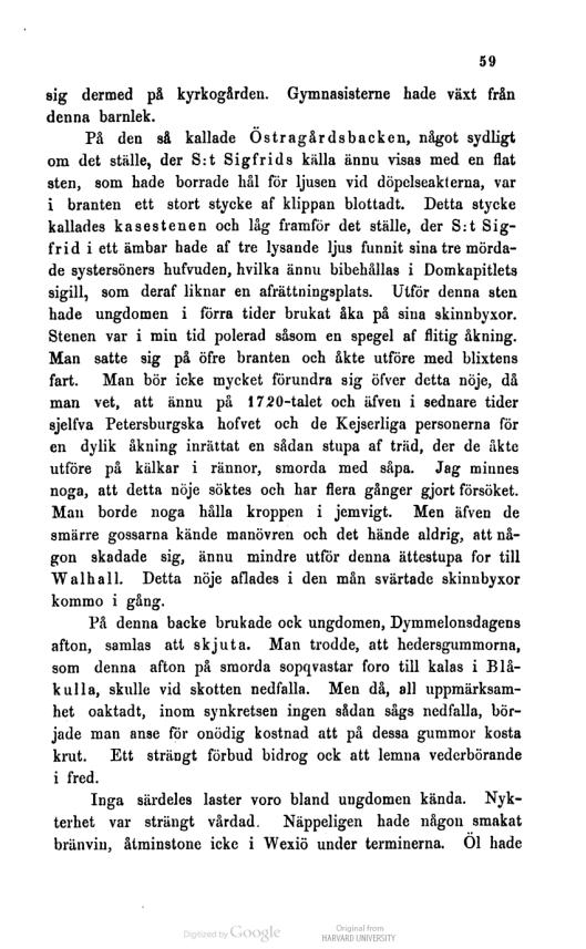 Hågkomster från hembygden och skolan. . Ödmann, Samuel, 1750-1829.s59