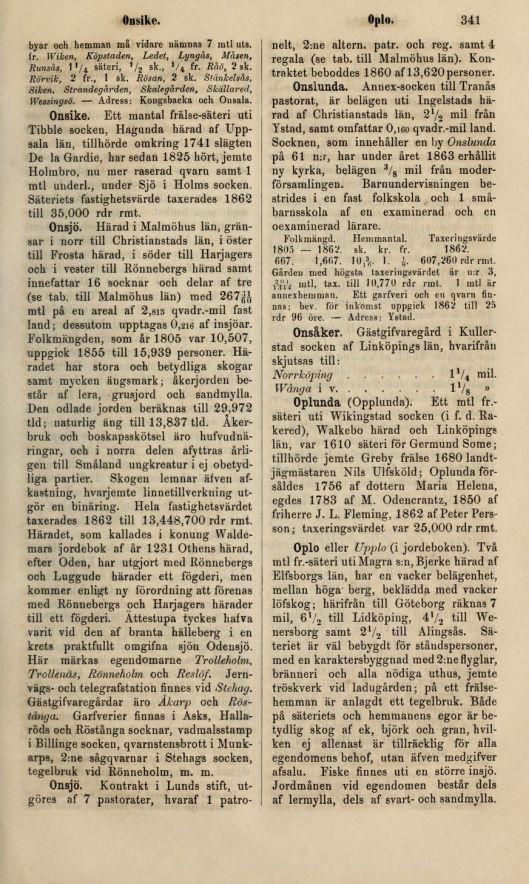 Historiskt-geografiskt och statistiskt lexikon öfver Sverige : Femte Bandet. M-R :  341  (1859-1870)_s341